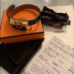 Authentic Hermès Rivale double tours bracelet